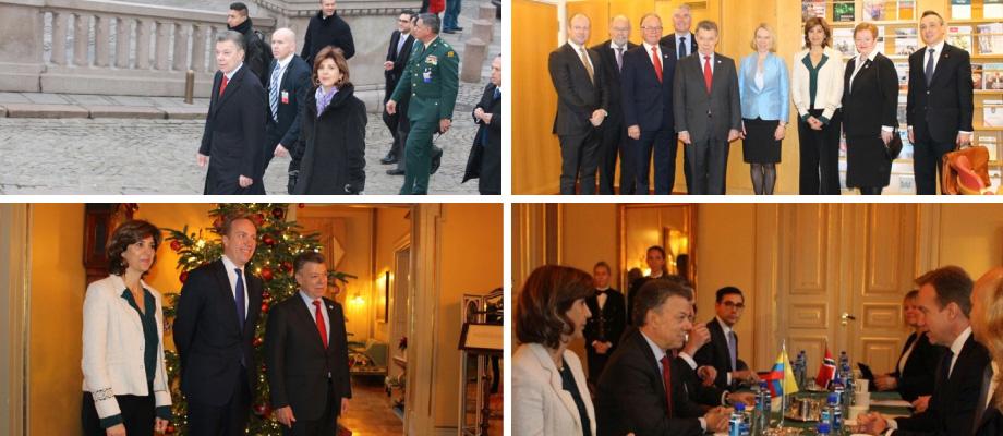 Resumen de gira de trabajo del Presidente Santos y la Ministra Holguín en Noruega